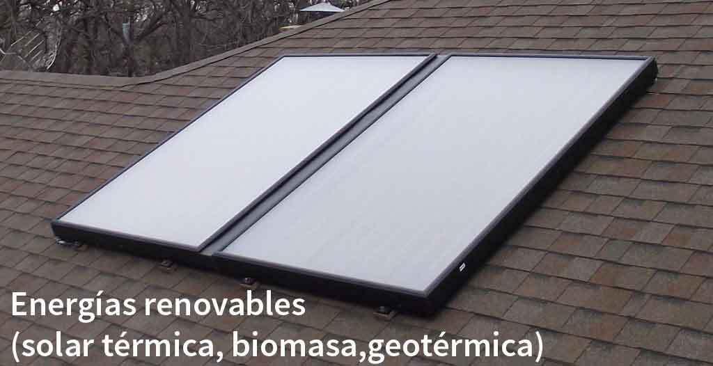 Te realizamos estudio e instalación en los últimos avances en energías renovables (aerotermia, solar térmica, biomasa, geotérmica).